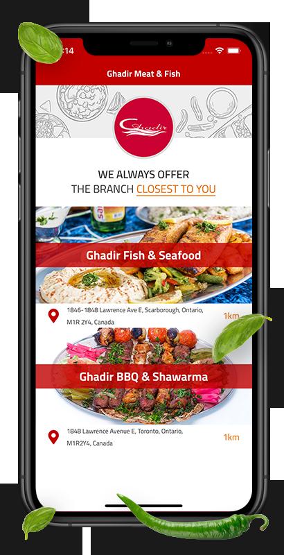 ghadir app order online now